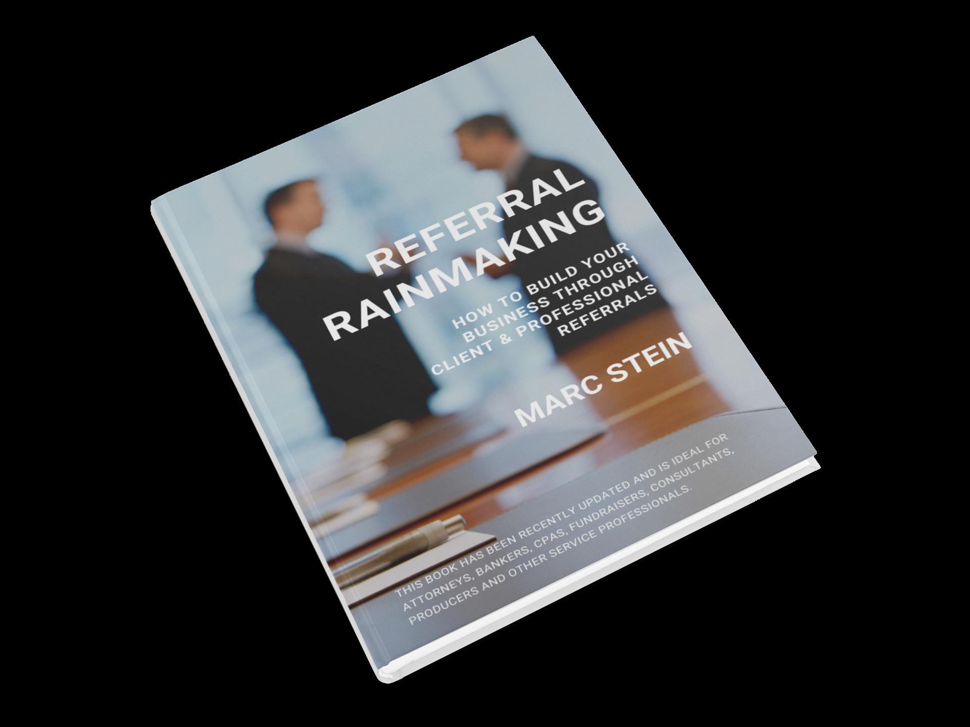 FREE Referral Rainmaking Book